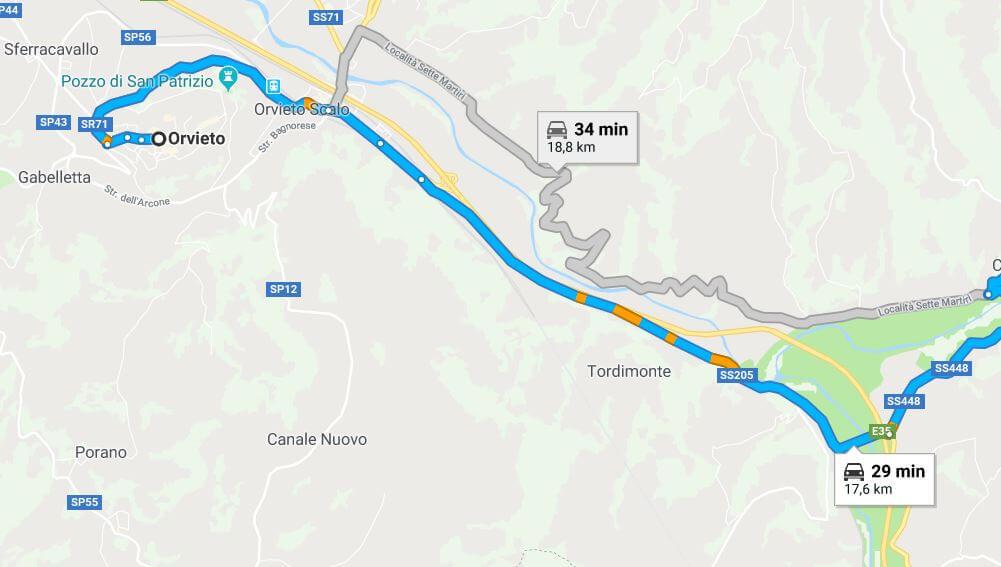 itinerario dell'Umbria del Sud