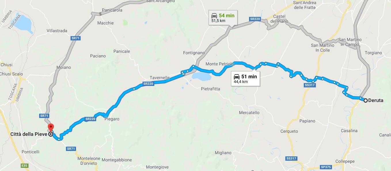 itinerario dell'Umbria centrale